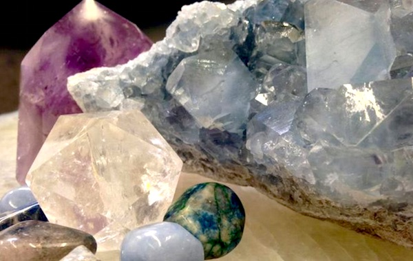 charging cleansing crystals new moon