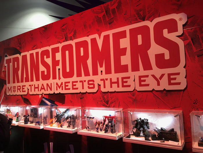 SDCC 2017 - Hasbro Transformers booth