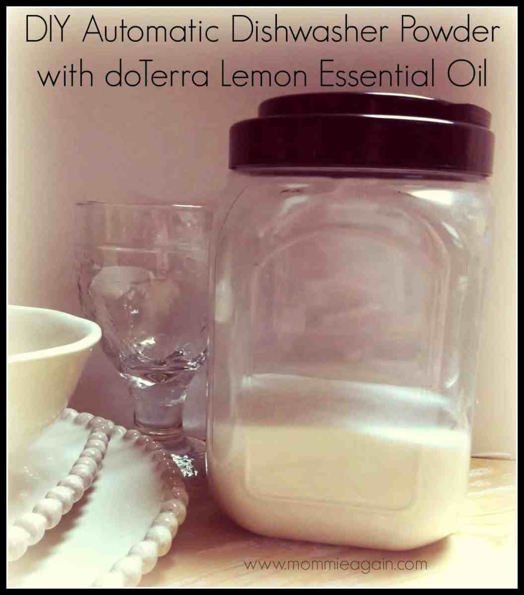 DIY Automatic Dishwasher Powder Lemon Essential Oil