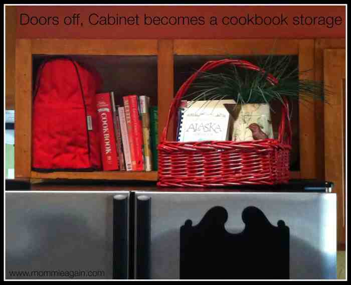 Quick and Handy: Turn a Cabinet into Cookbook Storage