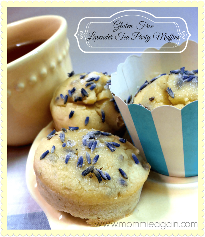 Gluten Free Lavender Tea Party Muffins