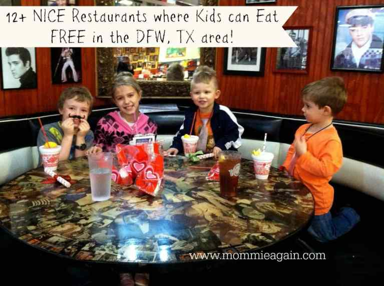 12 NICE Restaurants Where Kids Eat Free - Dallas/FTW