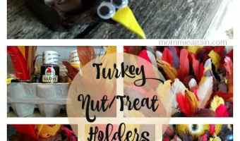 DIY Fall Thanksgiving Kid's Craft – Turkey Treat Holders