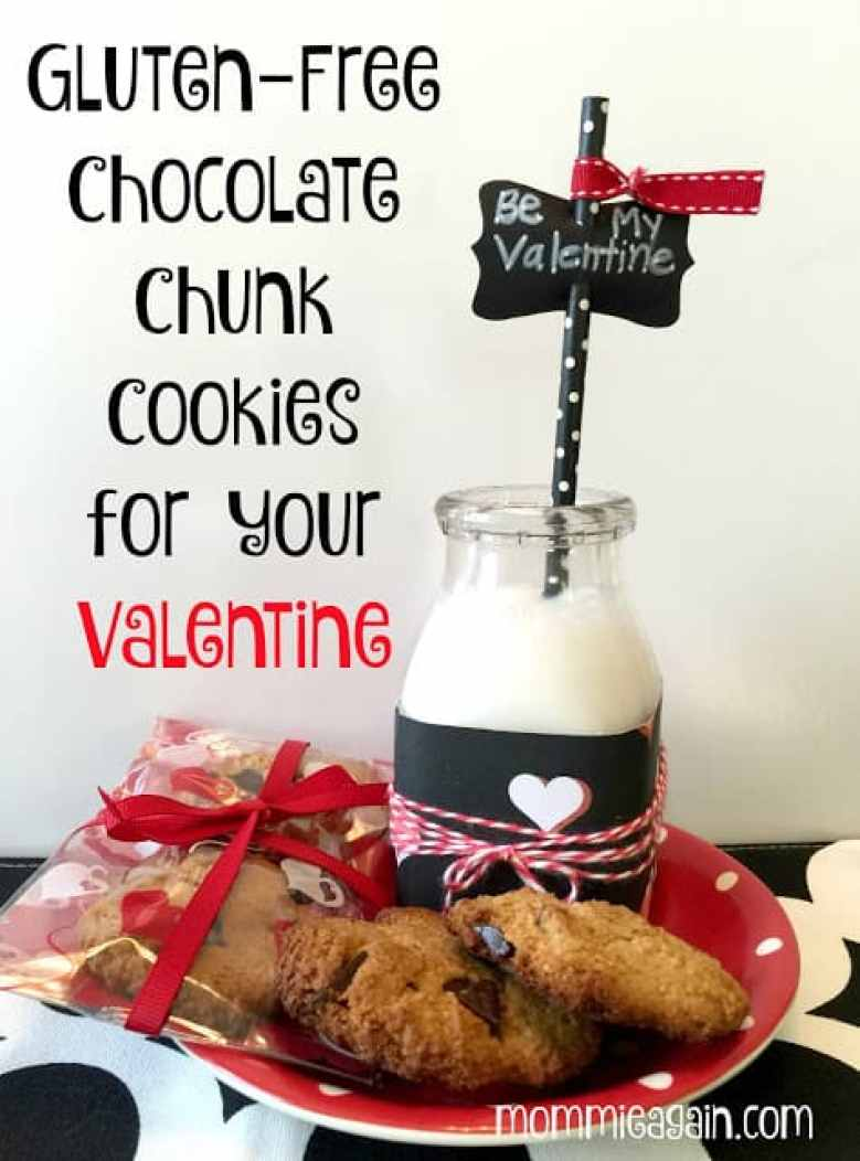 Gluten-Free Chocolate Chunk Cookies for your Valentine