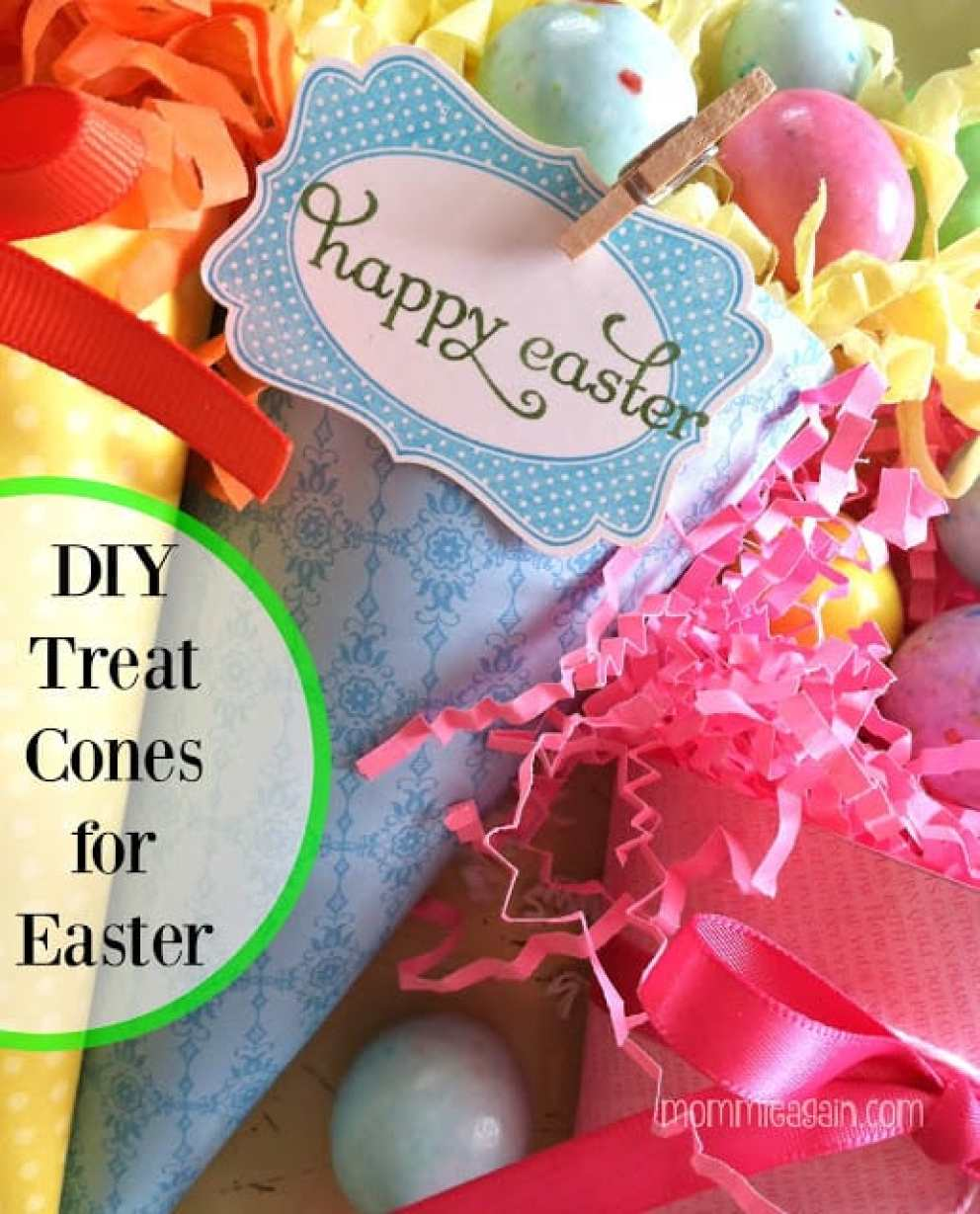 Easy DIY Easter Treat Cones