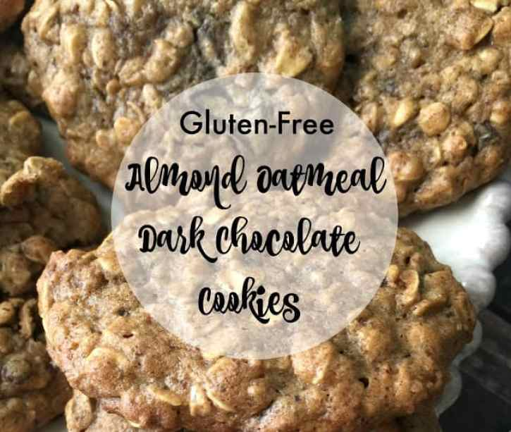 Gluten-Free Almond Oatmeal Dark Chocolate Cookies