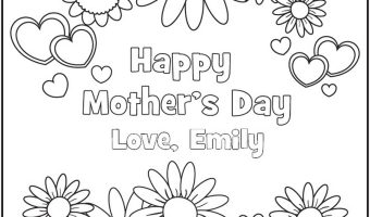 FREE Mother's Day Printable Coloring Pages