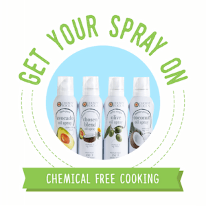 healthy cooking sprays by Chosen Foods