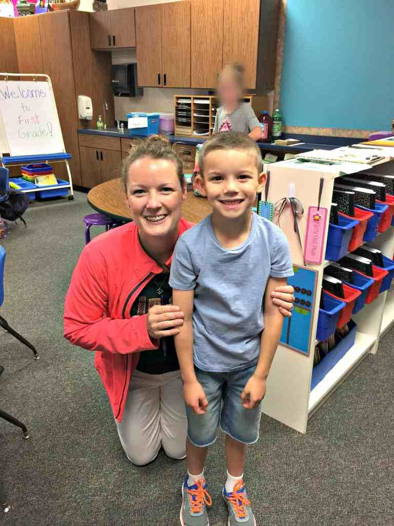 Brody's first grade teacher Mrs. Longbrake