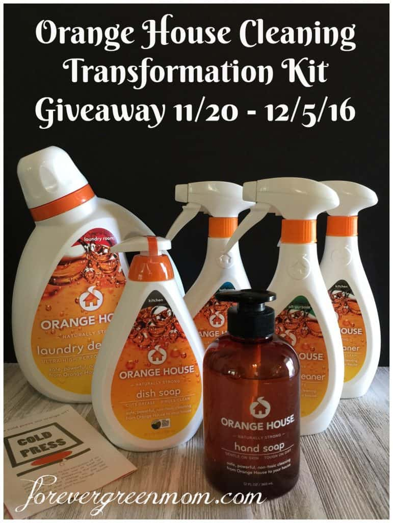 Orange House Cleaning Transformation Kit Giveaway - ENDED