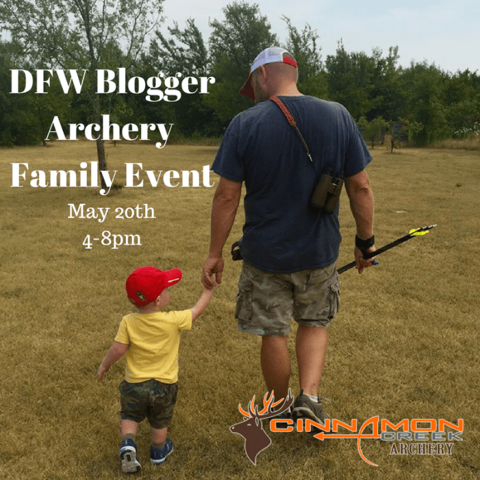 DFW Blogger Archery Family Event May 20th