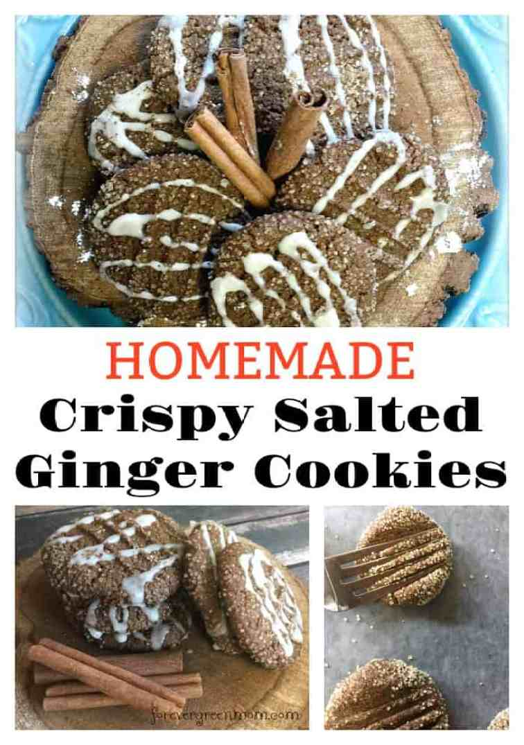 Homemade Crispy Salted Ginger Cookies
