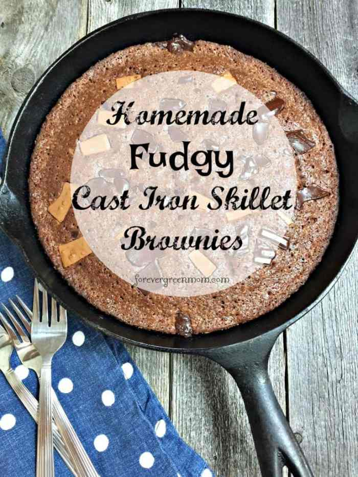 Homemade Fudgy Cast Iron Skillet Brownies