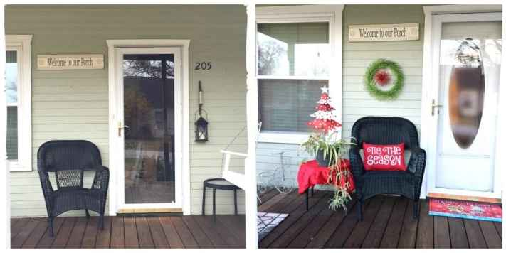 My Whimsical Christmas Front Porch Decor