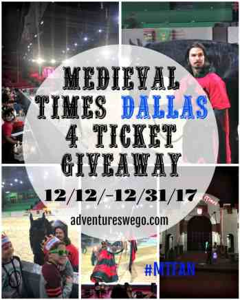 Medieval Times Giveaway for Dallas