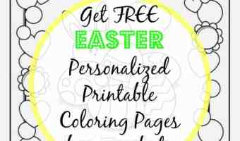 Free Personalized Printable Coloring Pages for Easter
