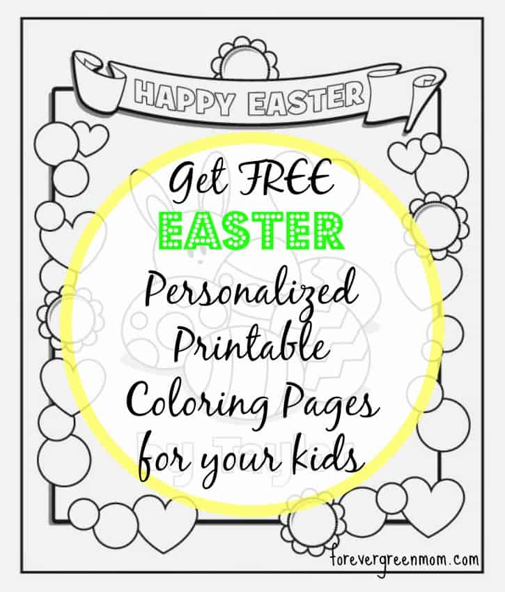 Free Easter Personalized Printable Coloring Pages