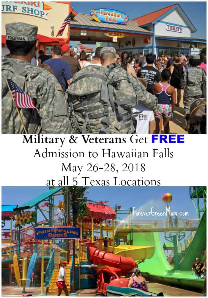 Military & Veterans FREE Admission Hawaiian Falls