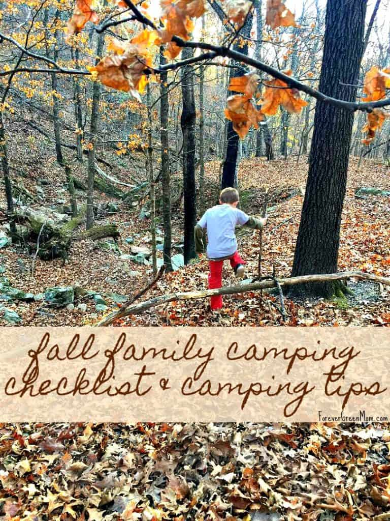 Fall Family Camping Checklist & Camping Tips