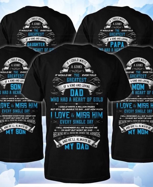 Memorial t shirts
