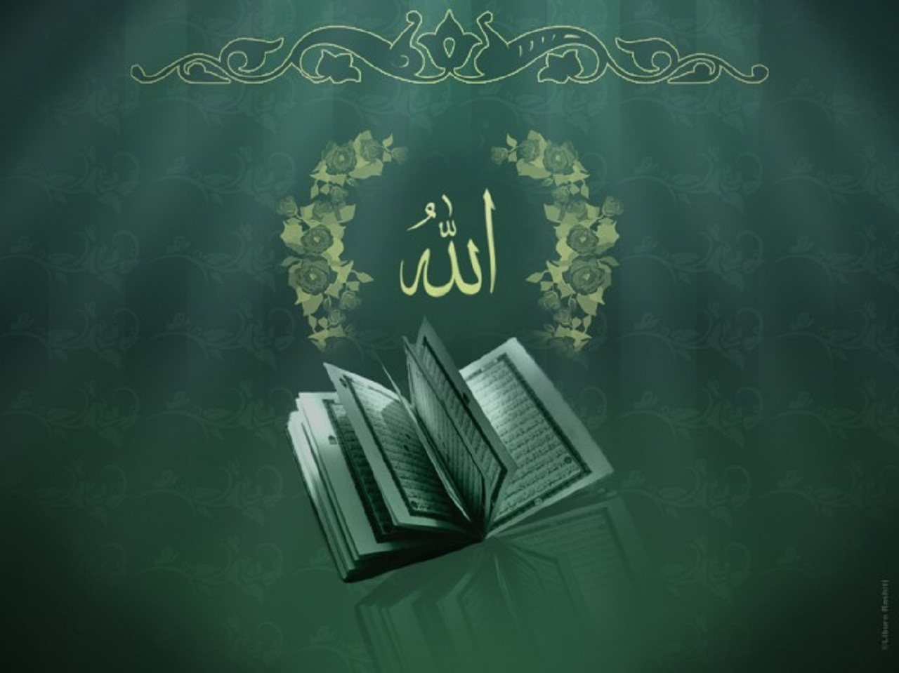 Islamic Wallpaper Allah Quran Green 690 517 Jpg Quran Wallpaper Islamic Wallpaper Allah Wallpaper