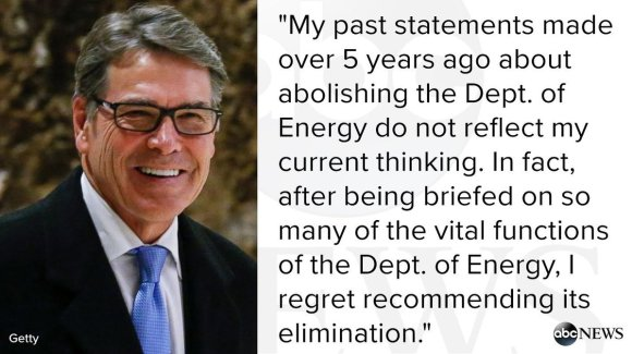 Rick Perry DOE