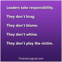 Leaders take responsibility