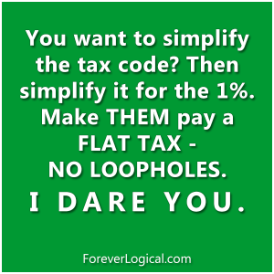You want to simplify the tax code?