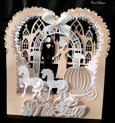 Brother FCM ScanNCut Template Wedding Shadow Box 446