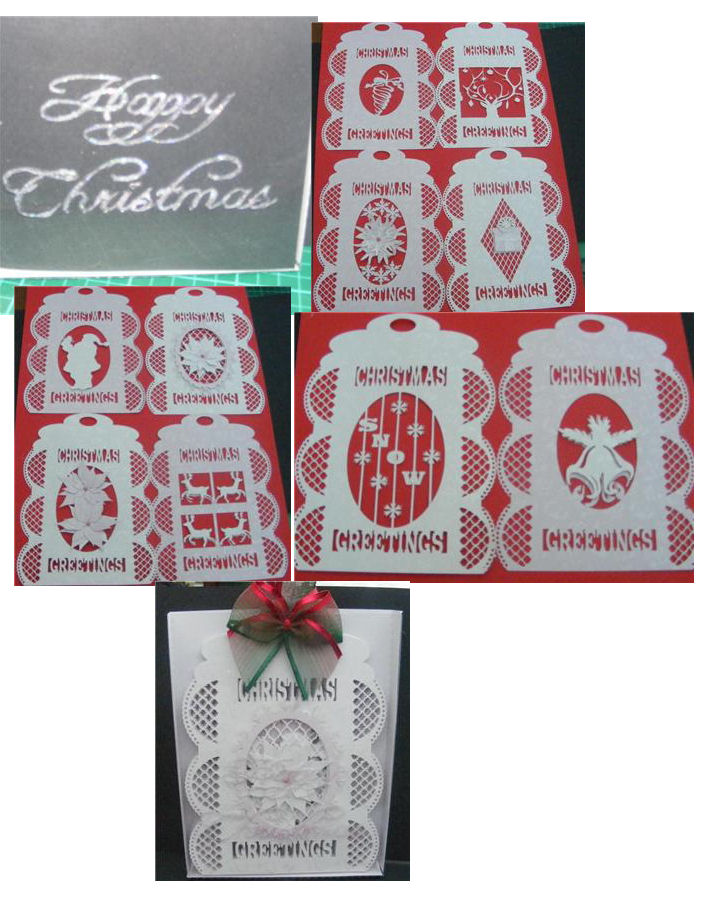 Download SVG File Template Lattice Christmas Tag Card - £3.19