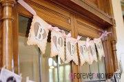 Cricut Vintage Banner. Vintage Themed Birthday Event Decor.