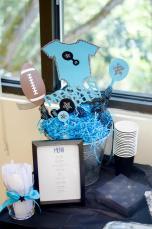 Turquoise & Black Onesie Centerpiece | Baby Shower Decorations