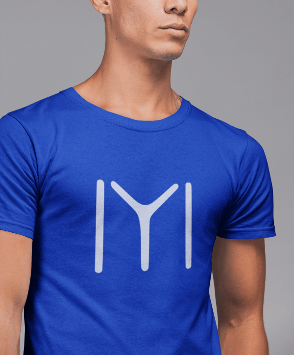 t shirt mockup of a fit young man against a plain background 21552
