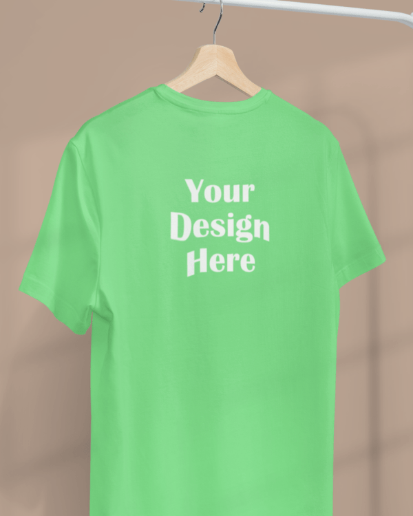 minimal apparel mockup featuring a customizable t shirt hanging from a clothing rack 3733 el1 34