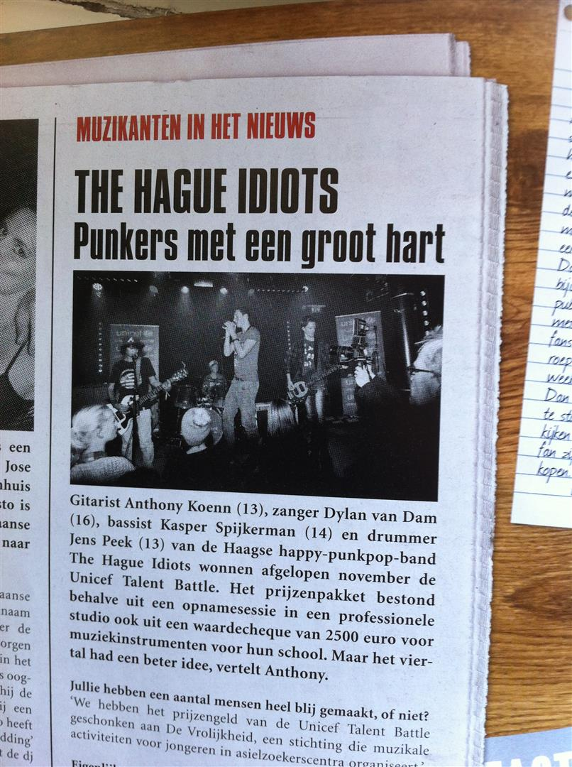 The Hague Idiots in Music Maker magazine