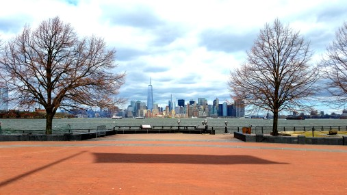 The view from Liberty Island was unreal.