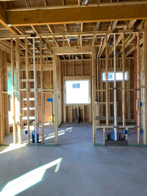 electrical and plumbing for master bath