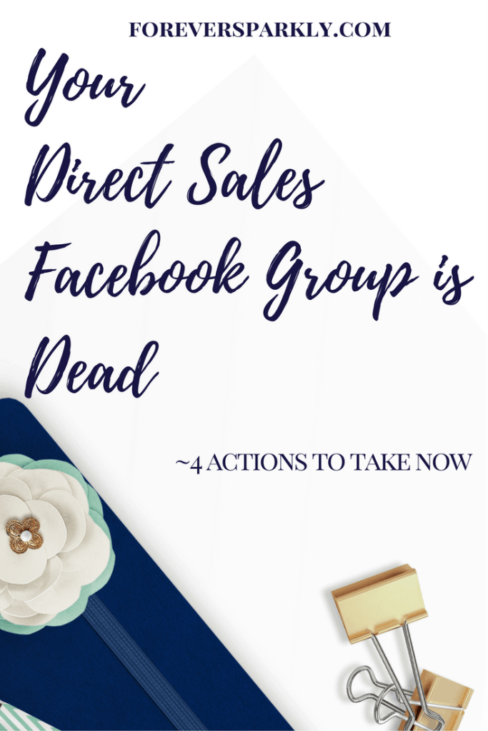 Your direct sales Facebook group is dead and no one is engaging! Check out the 4 things you need to take action on now to get your group rockin' again! Kristy Empol
