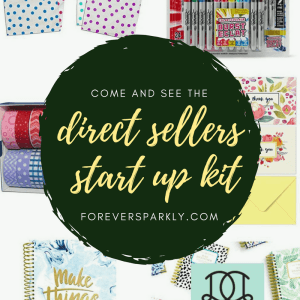 Want a kit with everything you need to start your direct sales journey? Check out this direct sellers start up kit which includes everything you need to have a successful start to your direct sales business!