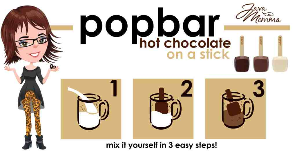 Java Momma Chocolate Popbars are here! 3 flavors to satisfy your sweet tooth. Chocolate, Vanilla, and Dark Chocolate. Just add milk or eat off the Popbar! Kristy Empol