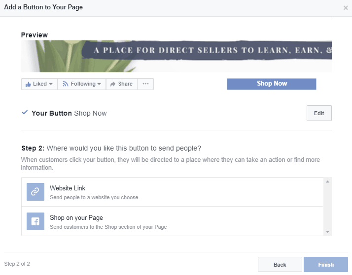 Wondering how to add the shop now button to your Facebook business page? Click for a quick guide on how to add this to your direct sales business page. Kristy Empol