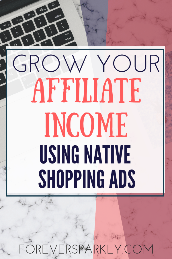 Are you an Amazon affiliate and want to increase your passive income? Consider using native shopping ads to give your Amazon affiliate income a boost! #amazon #affiliatemarketing #passiveincome #bloggingtips