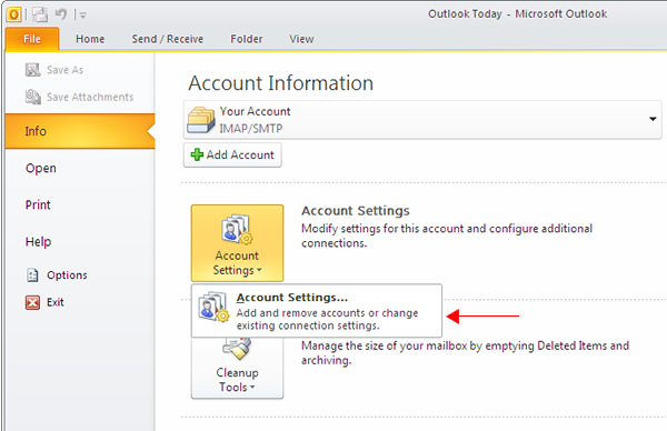 Email Configuration on Microsoft Outlook Express