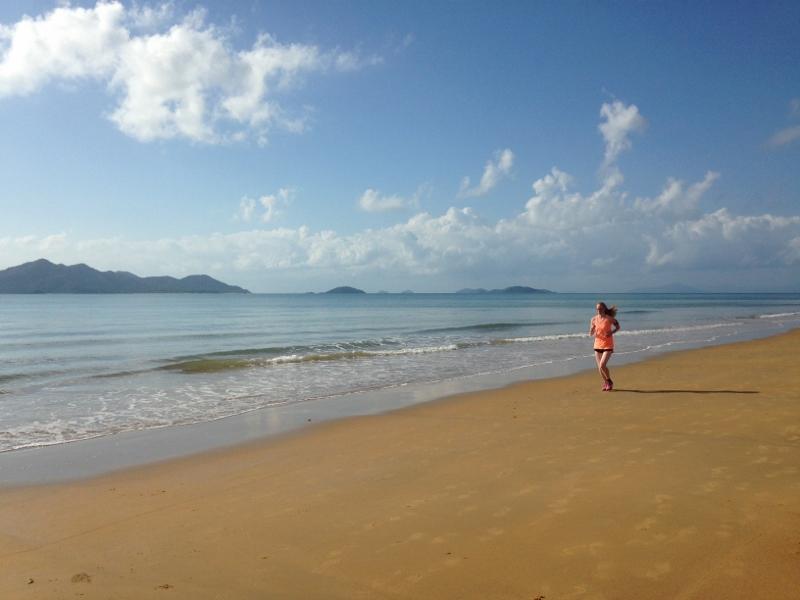 Läufer im Urlaub