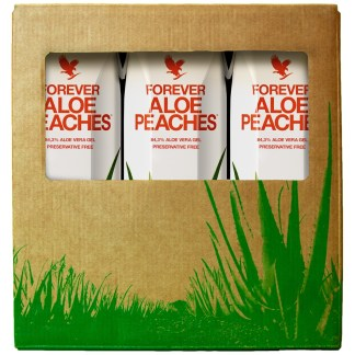 Forever Tripack Aloe Peaches (Χυμός αλόης βέρα με ροδάκινο, σε συσκευασία τριών τεμαχίων)