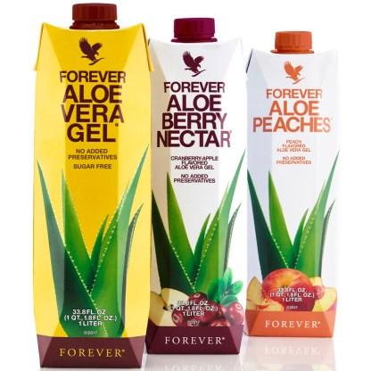 Forever Tripack Aloe Combo (Χυμός Αλόης Βέρα σε τρεις γεύσεις)