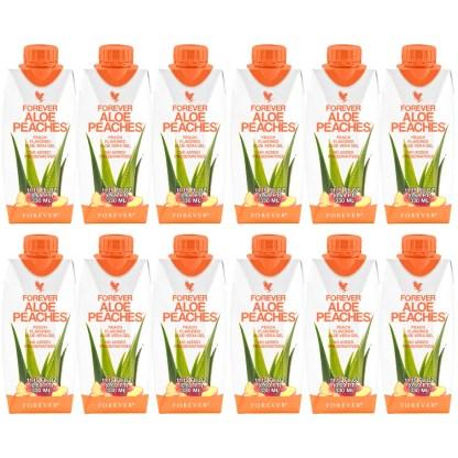 Forever Aloe Peaches Mini (Χυμός Αλόης Βέρα με ροδάκινο. 12 τεμάχια των 330 ml)
