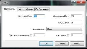 Стратегия - индикатор дивергенции MACD (настройка)
