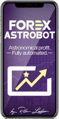 Forex AstroBot watch trading on smart phone