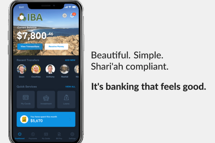 An interface display of the IBA Group's banking app.